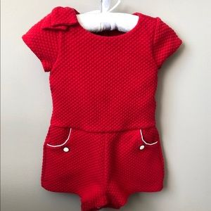 Janie and Jack red romper